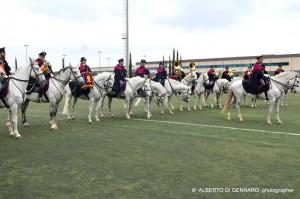 La Fanfara a cavallo della Polizia di Stato presente evento (foto Alberto Di Gennaro)