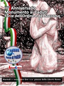 L'Abbraccio, il Monumento dedicato ai caduti Forze dell'Ordine e del Soccorso eretto a Roma in Piazza della Liibertà