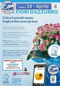 Fiori D'Azzurro, coltiva il seme del rispetto. Scegli un fiore contro gli abusi. Sabato 14 Aprile 2018 dalle ore 09.00.