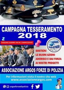 Tesseramento 2018 ARGOS Forze di POLIZIA