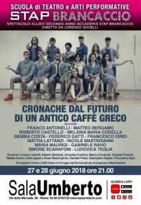 Cronache dal Futuro di un Antico Caffè Greco - Sala Umberto 2018 - Promo ARGOS