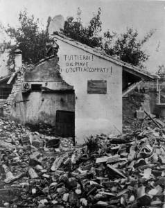 03-00010498 - 1918 - (1915 - 1918), WWI, PRIMA GUERRA MONDIALE, B/N, FRONTE DEL PIAVE, MACERIE, DISTRUZIONE, CONFLITTO BELLICO, 715018/46