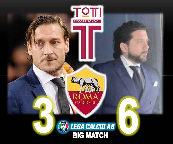 3^ giornata Lega Calcio a 8 serie A: Totti Sporting Club vs ROMA Calcio a 8