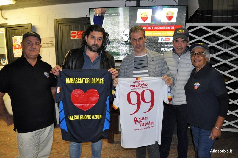 Gemellaggio per la Solidarietà e il Percorso delle Buone Azioni tra AS ROMA Calcio a 8 e ARGOS Soccer TEAM Forze di POLIZIA