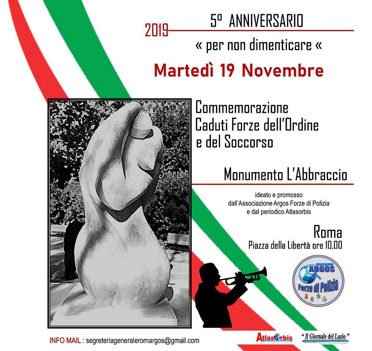 V° Anniversario Monumento Caduti - 2019 - L'Abbraccio - ARGOS Forze di Polizia