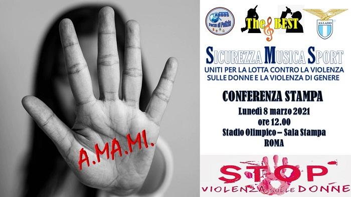 A.MA.MI. Conferenza Stampa - Lotta alla Violenza sulle Donne e Violenza di Genere - Stadio Olimpico - ROMA -
