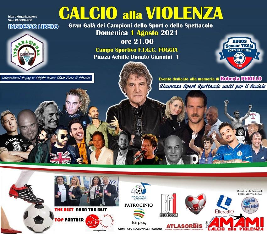 CALCIO alla VIOLENZA – A.MA.MI. Gran Galà dei Campioni dello Sport e dello Spettacolo - ARGOS Forze di POLIZIA