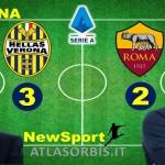 """Prima sconfitta per la ROMA, a VERONA i giallorossi perdono per 3-2, PETRUZZI """" non bisogna fare drammi"""", risultati e sintesi della 4^ giornata di campionato (#atlasorbis)"""