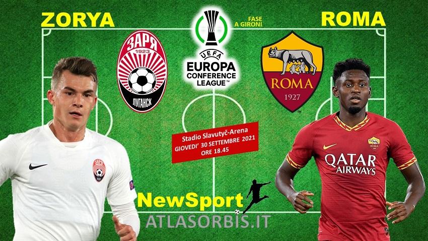 Conference League - Zorya vs Roma - NewSport - Atlasorbis