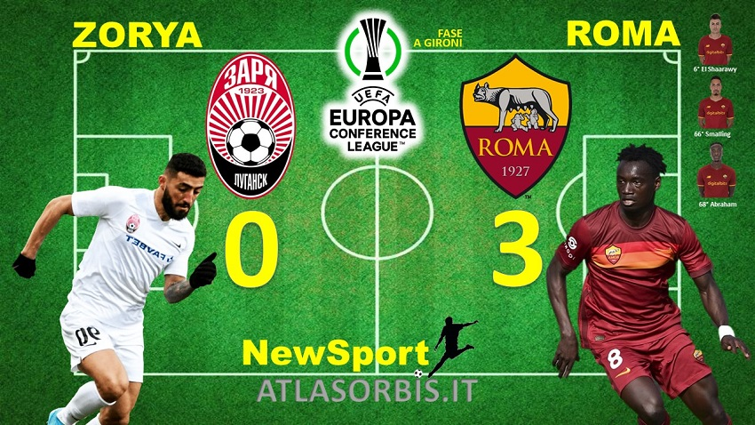 Zorya vs Roma - 0-3 - NewSport - Atlasorbis - Conference League